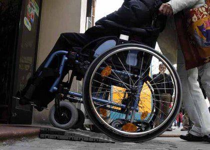 Foto di un disabile