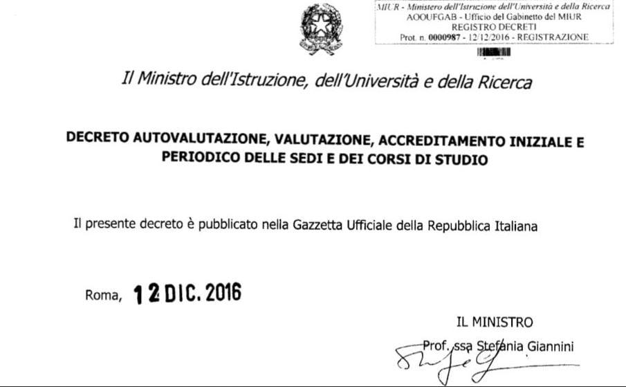 l'ultimo atto del ministro Giannini