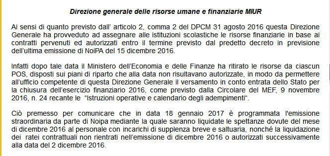 Stipendio di gennaio su NoiPa