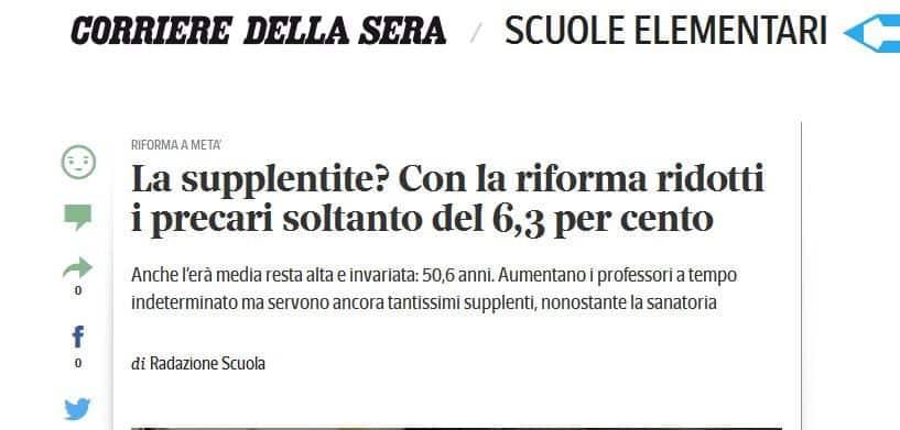 Supplentite: il governo Renzi e la buona scuola hanno fallito clamorosamente