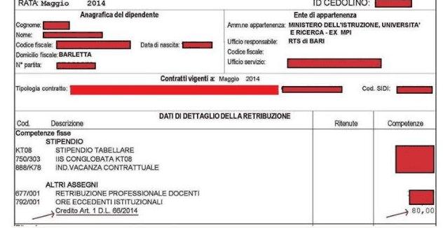 il più votato genuino raccolto ordine NoiPa e bonus di 80 Euro, chi ne ha diritto e dove leggerlo ...